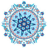 blue decorative oriental pattern and ornaments