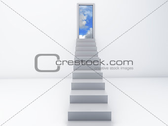 Stairs to the doors of heaven. free concept