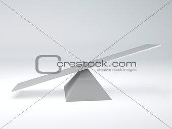 seesaw. Balance concept