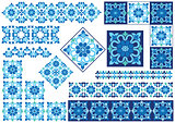blue decorative design element
