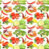 Seamless pattern with vegetables and spices