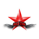 Red star with Rock Star banner