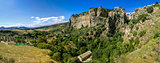 Ronda landscape panoramic view. (Spain)