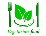 vegetarian restaurant icon