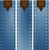 jean fabric and banner