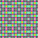 Neon Cross in Circle Tiled