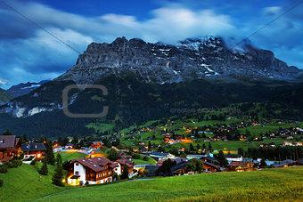 Grindelwald Village in Berner Oberland