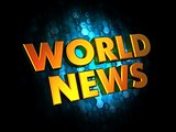 World News - Gold 3D Words.