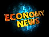 Economy News - Gold 3D Words.