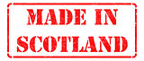 Made in Scotland - inscription on Red Rubber Stamp.