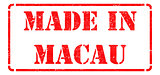 Made in Macau - inscription on Red Rubber Stamp.