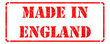 Made in England - inscription on Red Rubber Stamp.