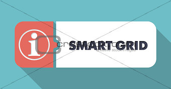 Smart Grid on Turquoise in Flat Design.