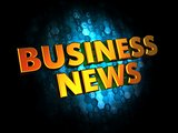 Business News - Gold 3D Words.