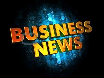 Business News - Gold 3D Words.