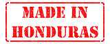 Made in Honduras - Red Rubber Stamp.