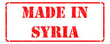 Made in Syria - Red Rubber Stamp.