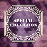 Special Education Concept. Vintage design.