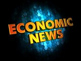 Economic News - Gold 3D Words.