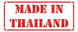 Made in Thailand - Red Rubber Stamp.