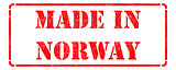 Made in Norway  - Red Rubber Stamp.