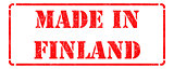 Made in Finland - Red Rubber Stamp.