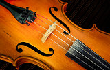 Detail of violin in filtered glow style