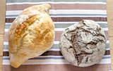 Black and white - rye and wheat bread