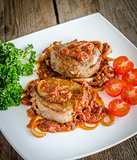 Angus Beef Steaks With Roasted Tomato Sauce