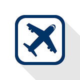 airplane flat icon