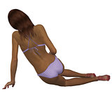 3d mulatto in bikini