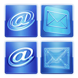 Blue e-mail buttons