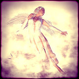 White Angel in Clouds