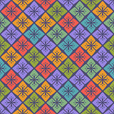 Seamless Floral Geometric Pattern