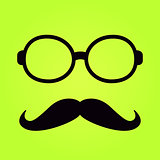 Frame Glasses with Moustach