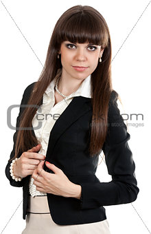 Portrait of business woman brunette