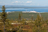 Kola nuclear power plant in the mountains vone hibiny