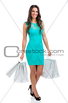 Beautiful and sexy woman shopping