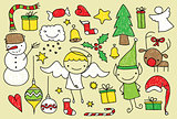 Kids christmas doodle