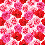 Seamless pattern of carnations flowers