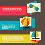 Collection of banners  with summer design elements
