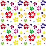 Seamless pattern of flowers on a white background