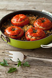 Rice Chard Baked Tomatoes