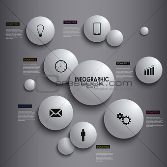 Abstract info graphic white round element poster template