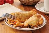 Golden chicken empanadas