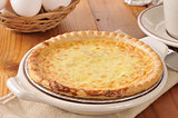 Fresh baked quiche