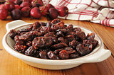 Bowl of dried cherries
