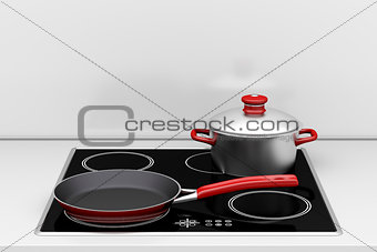 Pot and frying pan