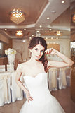Charming young bride, wedding picture.