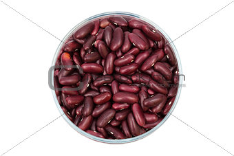 beans in a glass jar